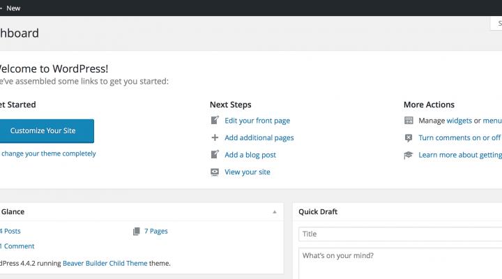 WordPress admin panel explained