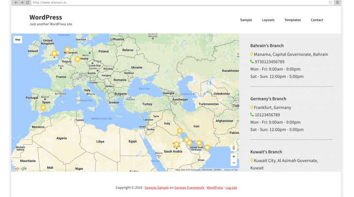 Google Map with Multiple Custom Markers in Genesis using ACF